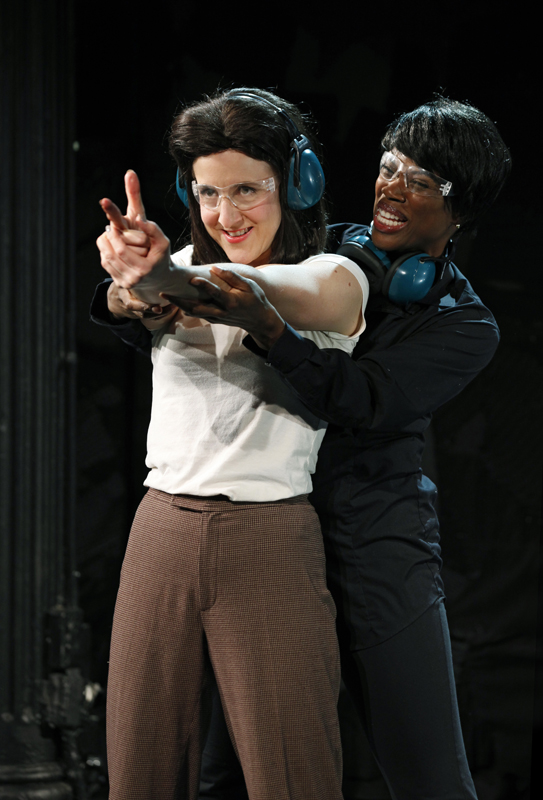 Jenn Harris as Clarice Starling and Deidre Goodwin as Ardelia Mapp in SILENCE! The Musical